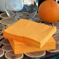 Serviettes cocktail 20 x 20 Orange X50
